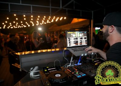 Resident DJ David S on our outside Deck on a Thursday Night