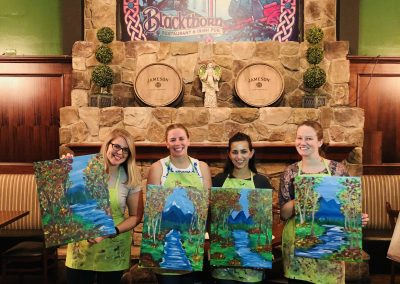 A few guest that participated in our Paint Nite event