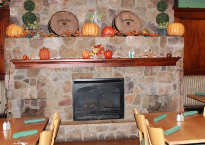 Our Dining room decorated for fall