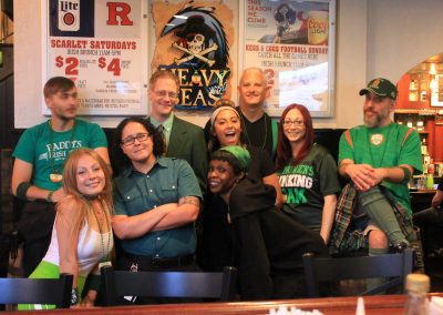 Our amazing staff and management dressed up for Halfway to St. Patrick's Day