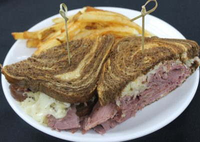 Corned Beef and Cabbage with French Fries