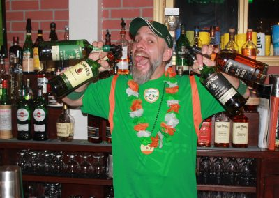 Our Bar Manager Tommy Celebrating Halfway to St. Patrick's Day